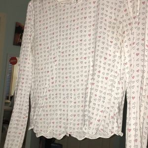 Long sleeve heart shirt